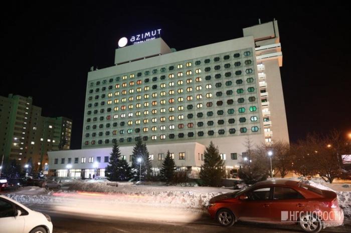 14 февраля на фасаде гостиницы «Азимут» в центре Новосибирска зажглось огромное сердце из окон