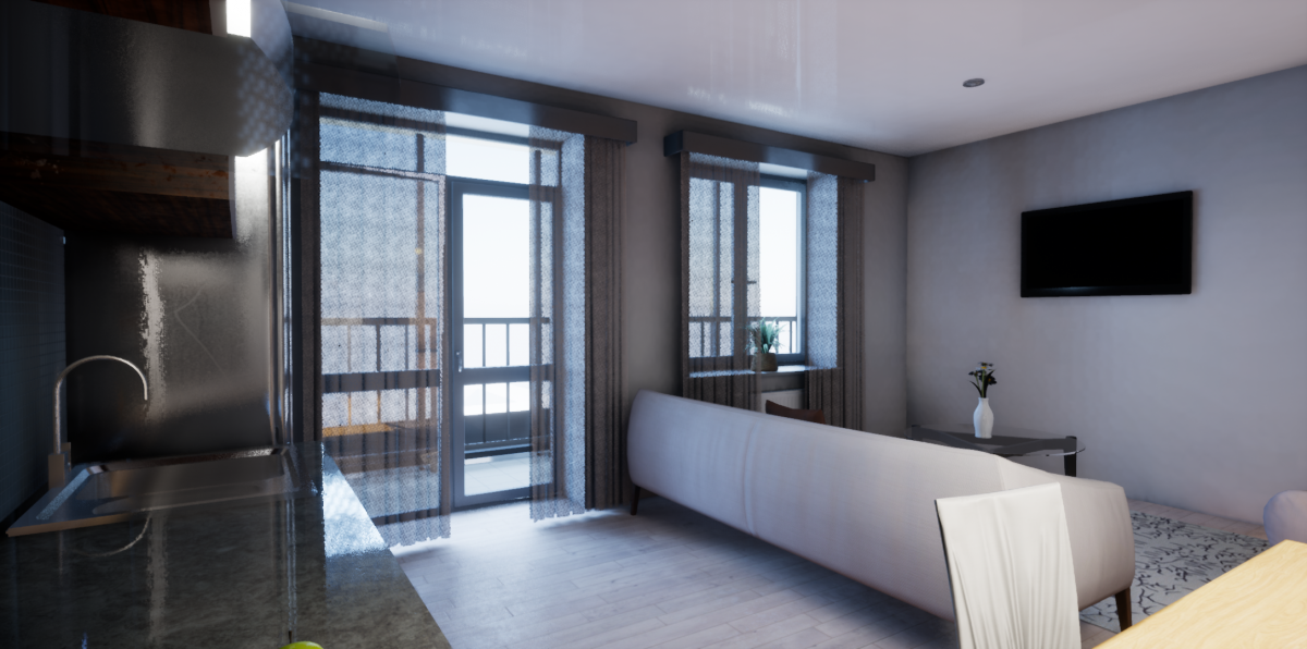 Кстати, квартиры в виртуальном шоуруме уже меблированы — можно без труда «примерить» на себя пространство и интерьер будущего жилья