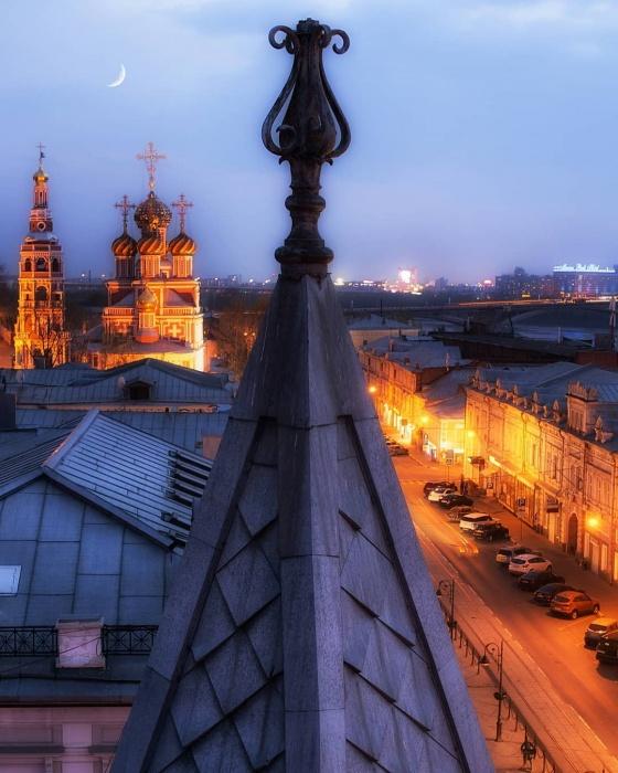 Нижний Новгород в вечерних огнях — как будто город из сказки