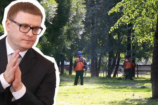 На садовую технику для управления делами главы региона Алексея Текслера потратят 163 тысячи рублей