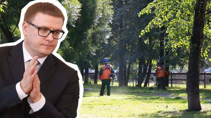 Хоть трава не расти: управделами губернатора Челябинской области закупит газонокосилки