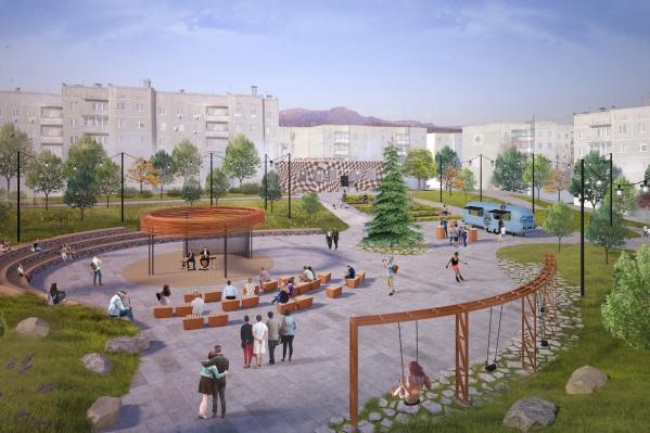 Таким станет единственный городской сквер к 2020 году