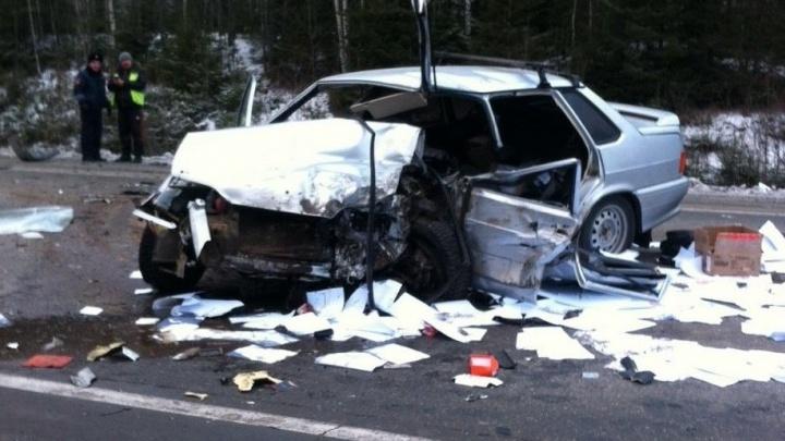 В аварии на трассе Екатеринбург - Серов пострадали четыре человека