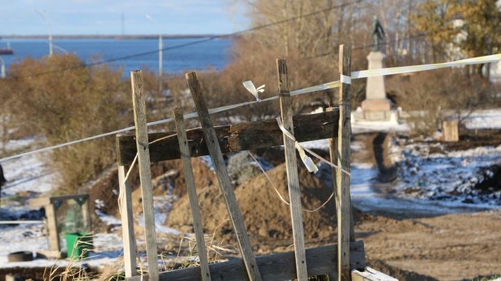 Благоустройство Петровского сквера в Архангельске планируют закончить в середине ноября