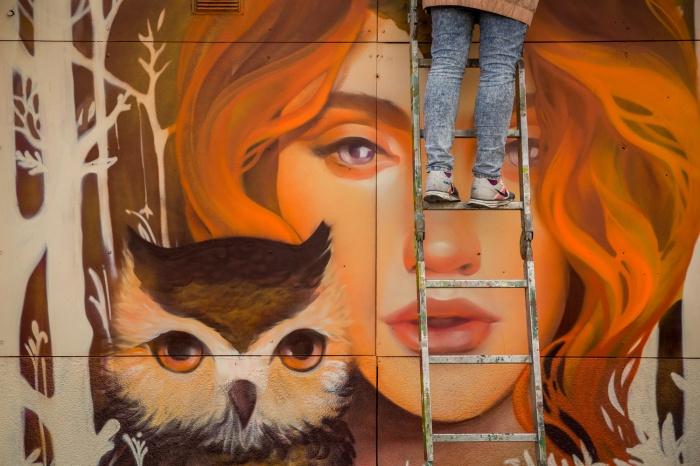 Граффити появилось на этой неделе у метро«Гагаринская»