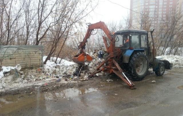 В Уфе ликвидировали стихийную свалку возле новостроек