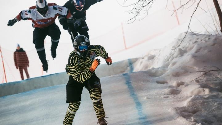 Россияне взяли два золота на этапе чемпионата мира по скоростному спуску на коньках на Уктусе