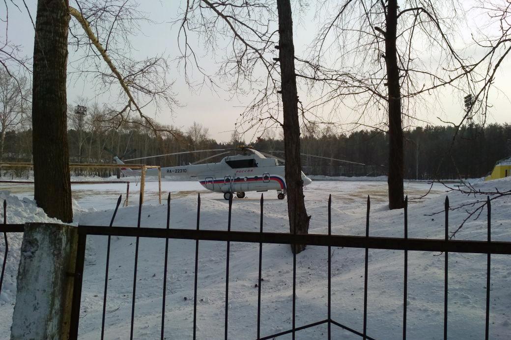 Вертолёт заметили новосибирские споттеры