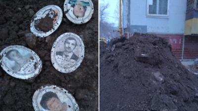 «Вот так сюрприз»: в Самарской области к дому привезли землю с надгробиями