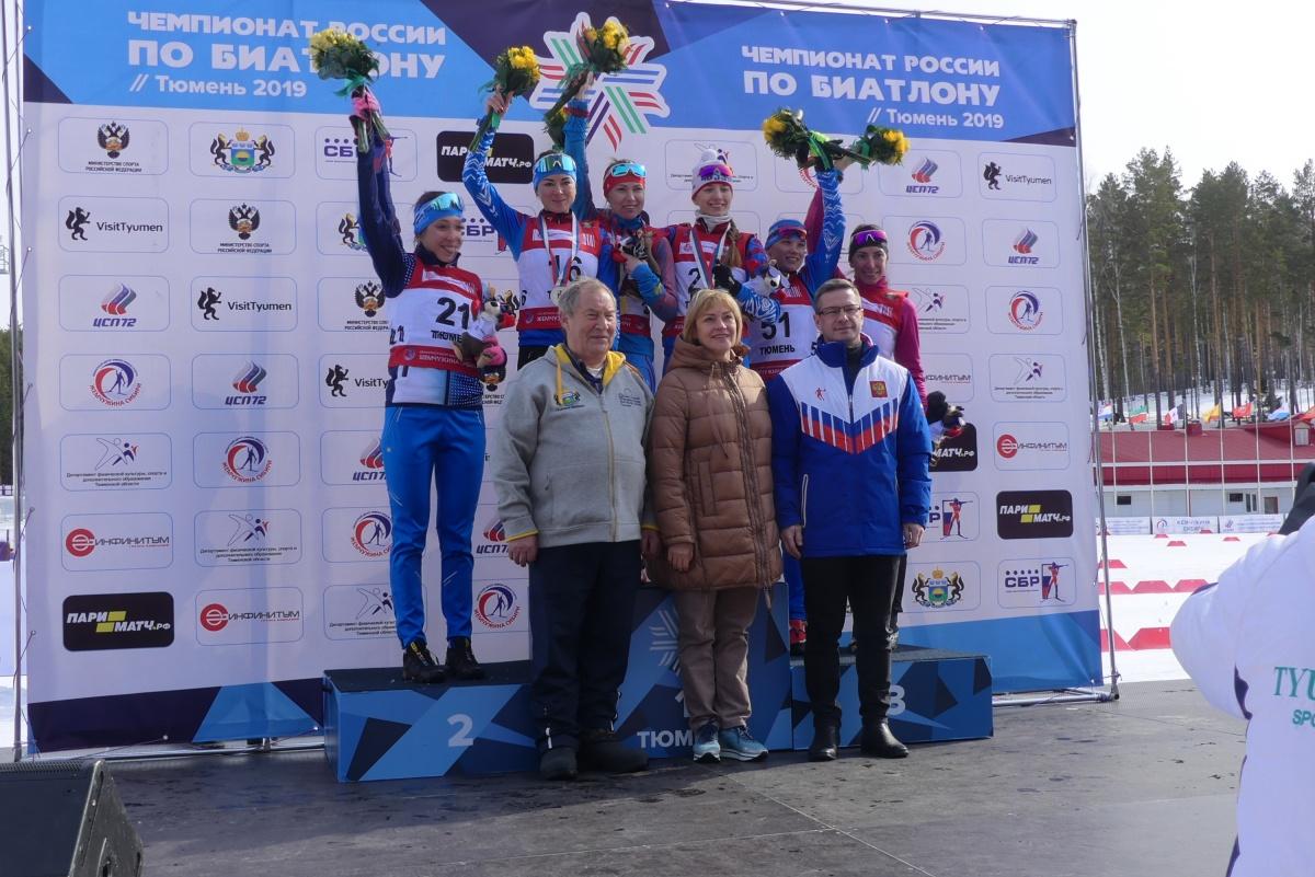 Екатеринбургские биатлонистки завоевали золото и бронзу на чемпионате России