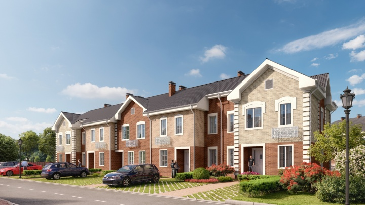 Строят новый квартал: купить двухэтажную квартиру с участком можно по стоимости 3-комнатной квартиры