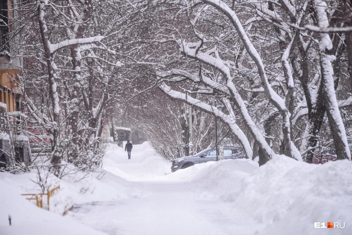 Хорошая погода для романтических прогулок, но идти было сложно