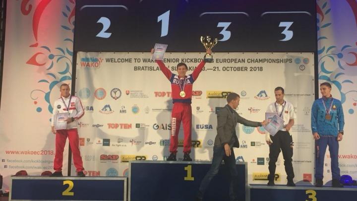 Волгоградский кикбоксер на чемпионате Европы забрал золотую медаль у Кролика