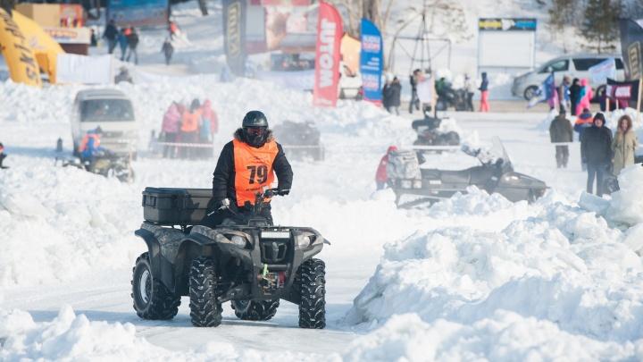 Масленица для экстремалов: в Новосибирске устроят гонки на квадроциклах по ледяной трассе