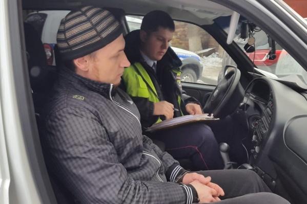 Водителя задержали на Козловской