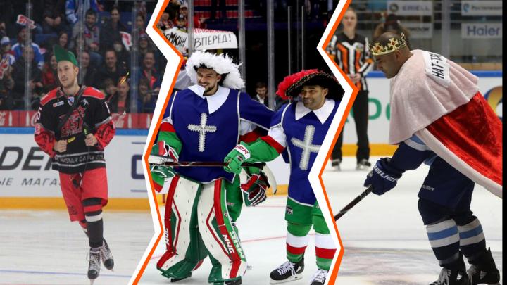 Голышев — Робин Гуд, а Коварж мушкетер: чем удивляли игроки «Автомобилиста» на главном хоккейном шоу