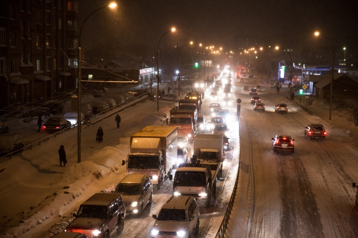 Аварии затруднили проезд по некоторым улицам города