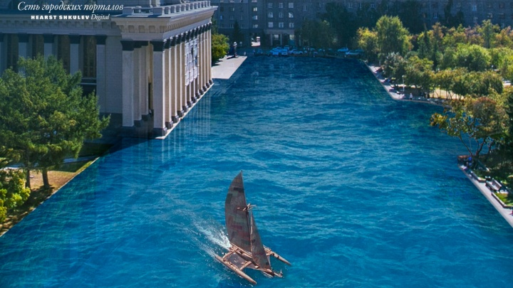 Россия на Дне океана: представляем, как большая вода превращает Новосибирск в курорт
