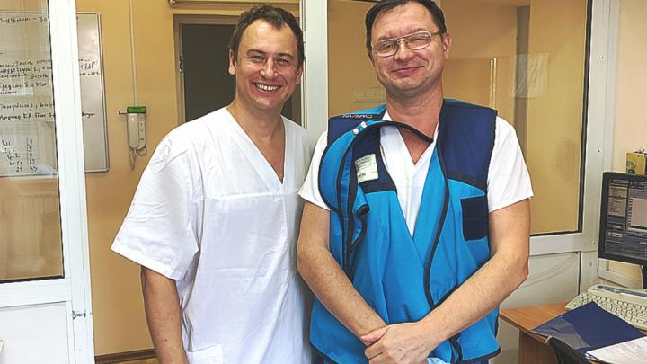 В Красноярске впервые установили российский девайс для предотвращения инсульта