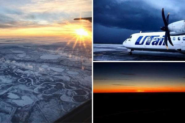 Рассветы и закаты, а также необычный рельеф области в объективе пилота с высоты нескольких тысяч метров