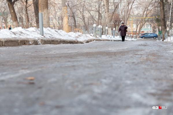 С борьбой со льдом в Самаре дела идут плохо