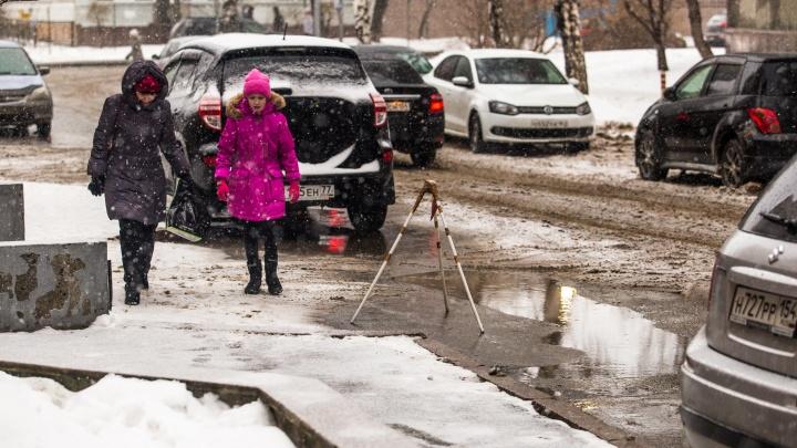 Оттепель до +3 градусов: новосибирцев ждут тёплые выходные с метелью