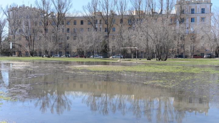 «Шутка на 1 Апреля»: в Волгограде перед администрацией появилась большая зловонная лужа