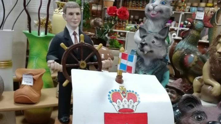 В Кунгуре народные мастера сделали скульптуру Максима Решетникова из глины