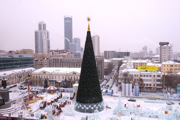 Искусственную ёлку в Екатеринбурге называют конусом