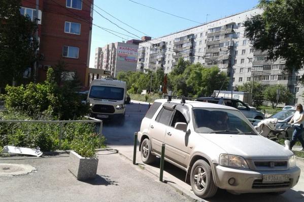 Перекрытая улица Пархоменко
