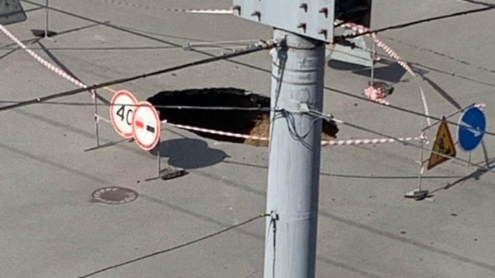 В Кургане из-за провала коллектора на праздники для машин закроют перекресток Гоголя— Пролетарская