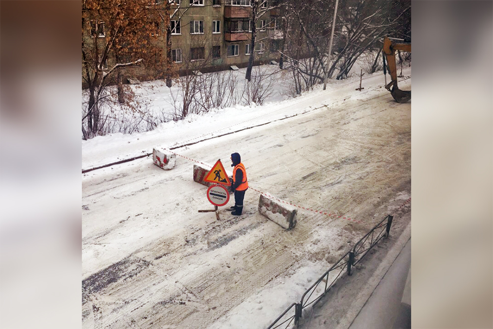 Очевидцы заметили перекрытие улицы Адриена Лежена сегодня утром