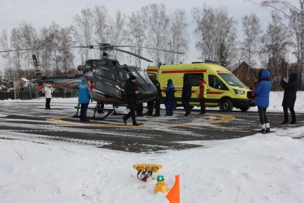 Вертолетная площадка на «Сопке»