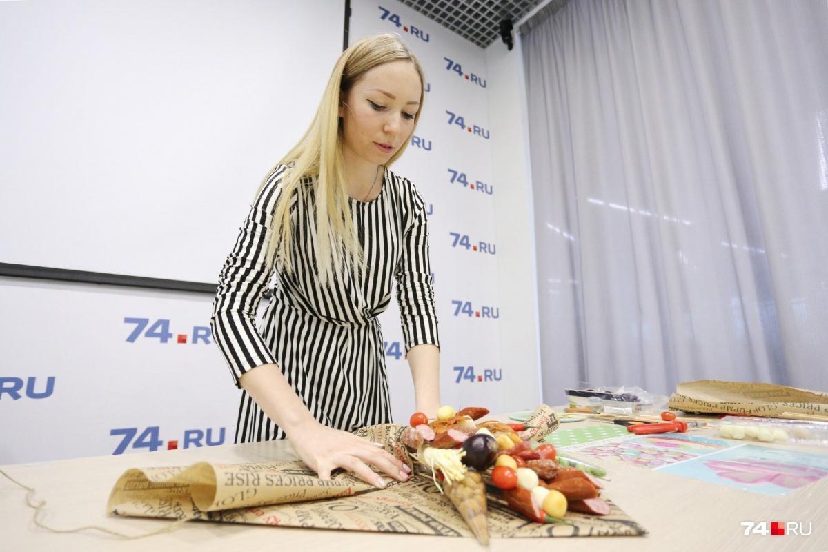 Съедобные букеты Ольге нравится делать больше, чем свадебные украшения