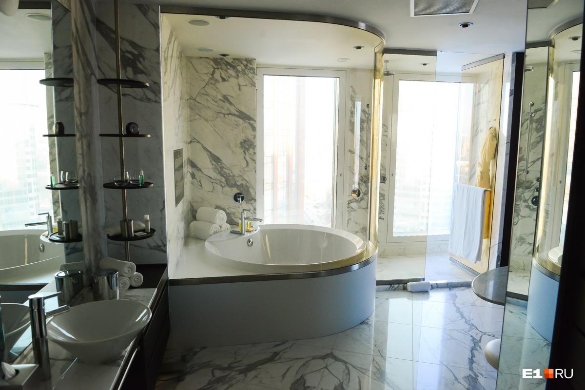Ванная комната здесь уникальна