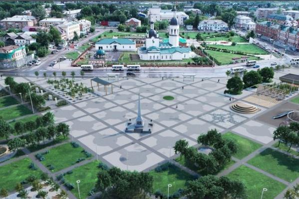 Площадь Коростелева в Канске
