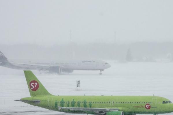 В Южно-Сахалинске сильный снег и ураганный ветер