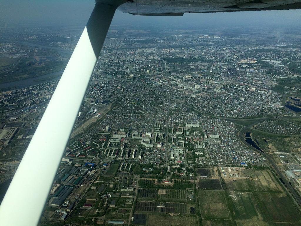 Полет над Омском