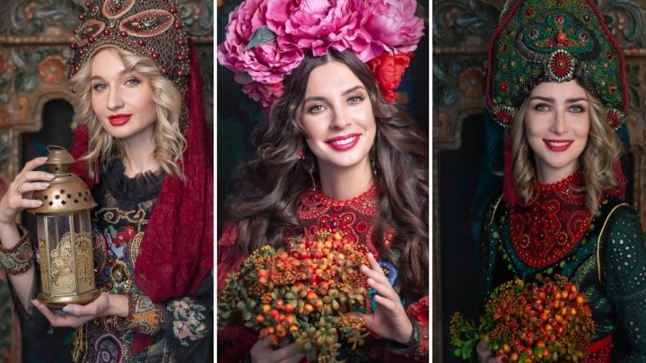 Настоящие русские красавицы в кокошниках: знакомимся с участницами конкурса «Миссис Екатеринбург»