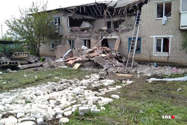 Взрыв произошел на втором этаже дома