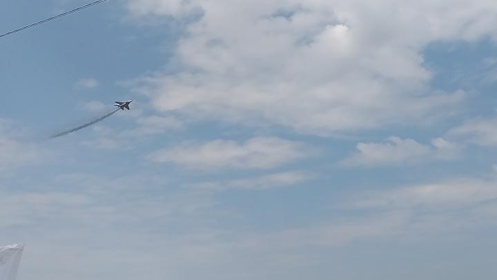 Скромное авиашоу: над Нижним Новгородом летает единственный МиГ-29