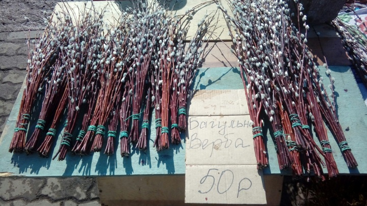 Вербу на улицах начали продавать за 2 недели до праздника
