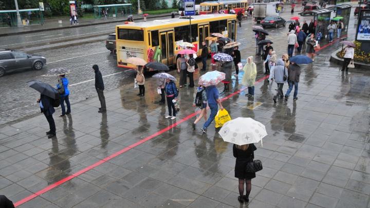 В Екатеринбург вернулась типичная уральская погода: дожди и прохлада