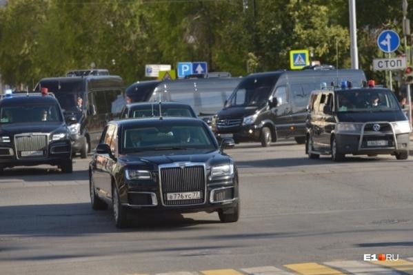 Президент приехал из «Екатеринбург-Экспо» в УрФУ