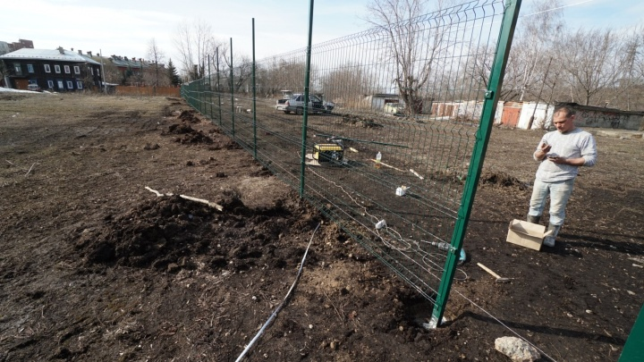 Фотофакт: у сквера Татищева в Перми ставят забор — скоро там начнутся раскопки