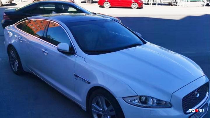 Jaguar, угнанный из гаража топ-менеджера тюменской строительной компании, нашли спустя два года