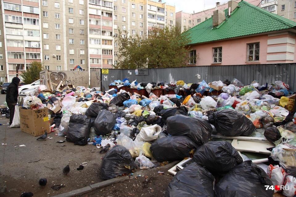 Жители дома №15 на Комсомольском проспекте тоже по-прежнему с нетерпением ждут мусоровоза