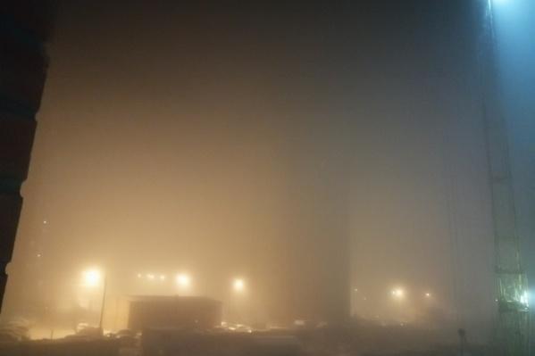 Густая дымка заволокла город