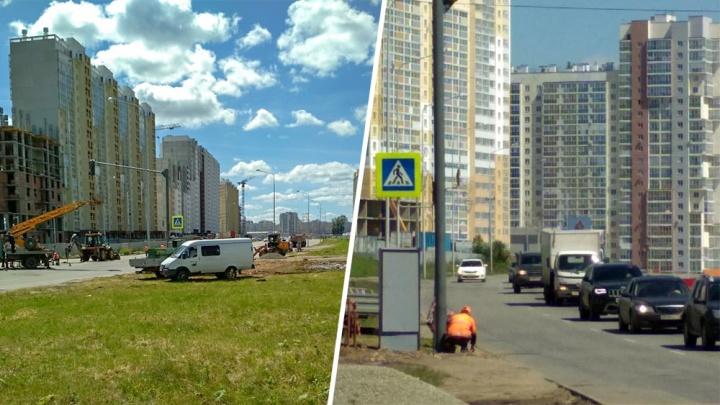 Не прошло и года (прошло): опасную широкую дорогу на Северо-Западе Челябинска «разбили» светофором