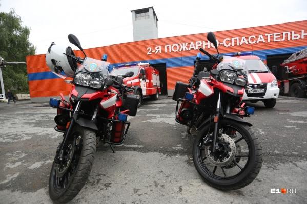 Со среды в Екатеринбурге будут работать байкеры-пожарные